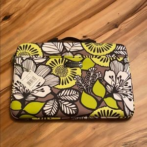Vera Bradley Neoprene Laptop Case, Citron